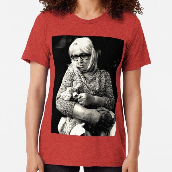 Woman with Lamb Tri-blend T-Shirt