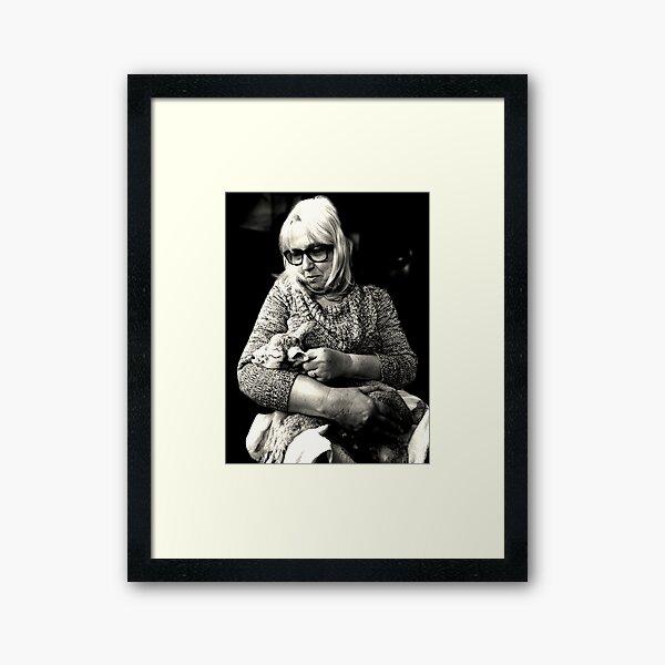 Woman with Lamb Framed Art Print