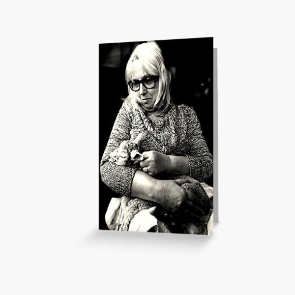 Woman with Lamb Greeting Card