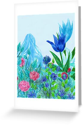 Blue Flower Faerie by Rebecca Tripp