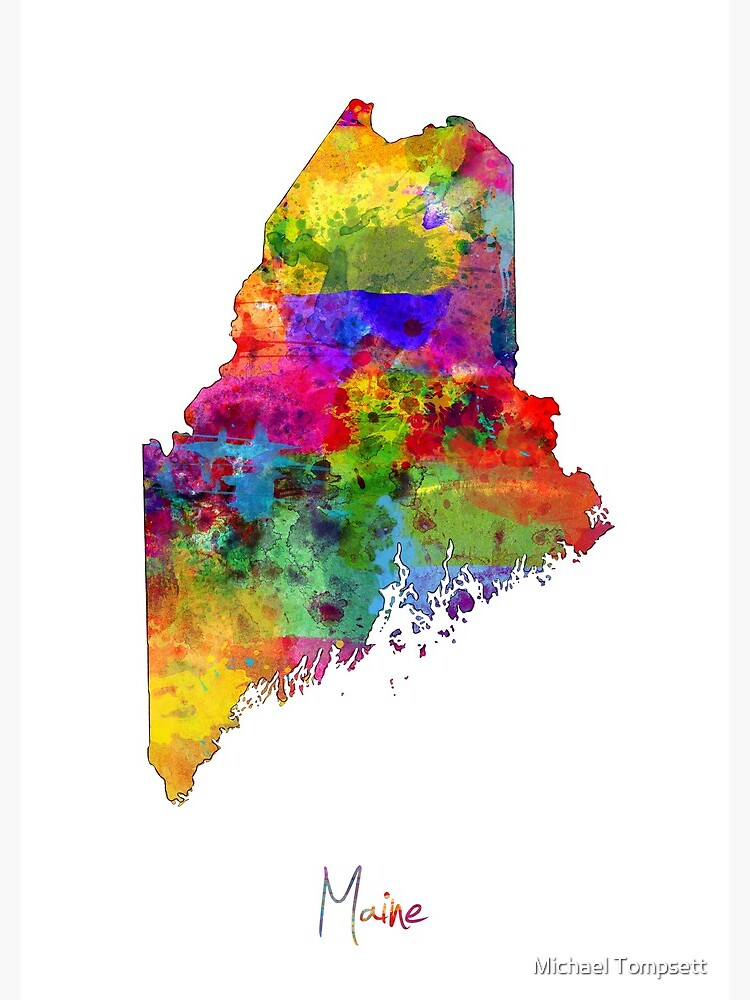 Maine Map by