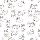 «Patrón de gatos lindos» de Anna Syroed