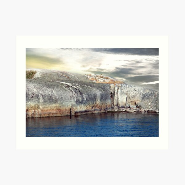 Fiord in Sweden (like woman) Art Print