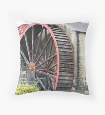 The Water Mill, Pateley Bridge North Yorkshire Throw Pillow
