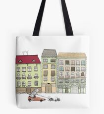 Budapest and the wandering cat Tote Bag