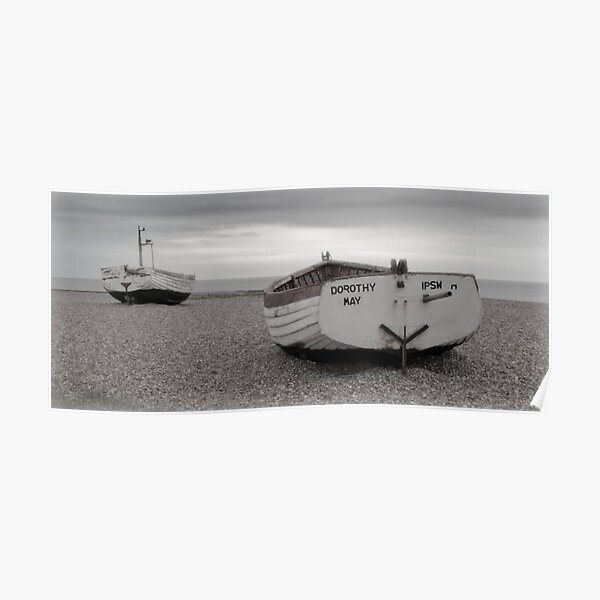 Two Boats on a Suffolk Beach, Aldeburgh Poster
