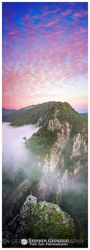 Leven Canyon Sunrise by STEPHEN GEORGIOU PHOTOGRAPHY