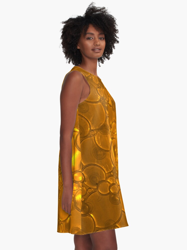 Alternate view of Gleaming Copper Bubbles Pattern A-Line Dress