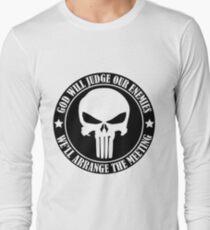 Camiseta de manga larga Dios juzgará a nuestros enemigos Organizaremos la reunión