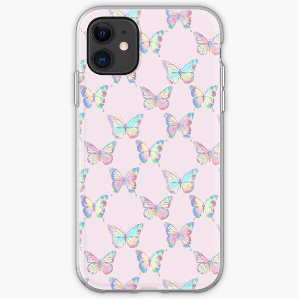 HOLOGRAPHIC BUTTERFLY PATTERN 3 iPhone Soft Case