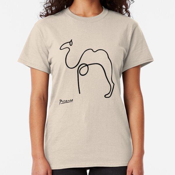 Pablo Picasso Camel Artwork T Shirt, Reproduction Sketch Classic T-Shirt