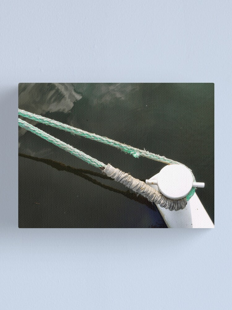 Alternate view of Bow line and bitt Canvas Print