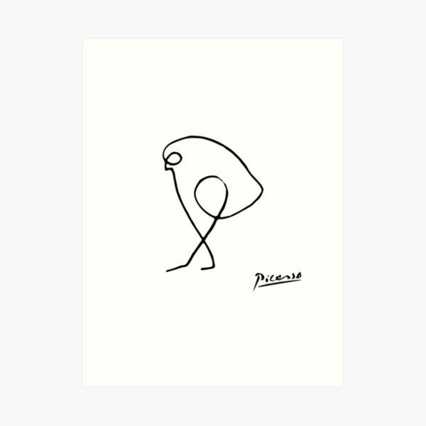 Pablo Picasso The Sparrow (Bird of Prey) T Shirt, Artwork Sketch Reproduction, tshirt, tee, jersey, poster, artwork Art Print