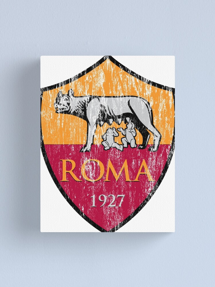 Roma 1927 Distressed Logo Men S And Women S Canvas Print By Boscotjones Redbubble