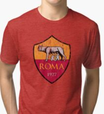 Roma 1927 Distressed Logo - Men's and Women's Tri-blend T-Shirt
