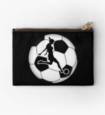 Woman's Soccer  Zipper Pouch