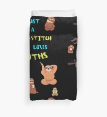 Just a Cross-Stitch  Who Loves Sloths Duvet Cover