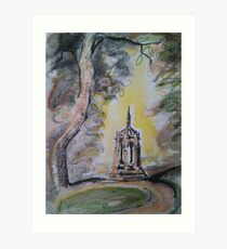 Ornamental fountain, Sandholme, Bolton Abbey Art Print