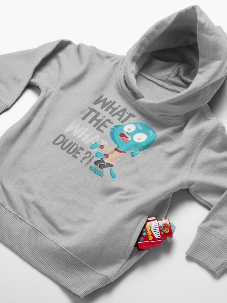 Alternate view of WHAT THE WHAT DUDE ?! Toddler Pullover Hoodie