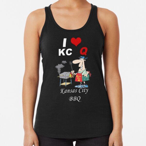 I Love KC Q - Kansas City BBQ Racerback Tank Top