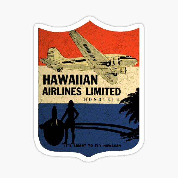 Hawaiian Airlines Vintage tag USA Sticker