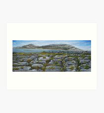Mullaghmor, The Burren, County Clare - oil painting Art Print