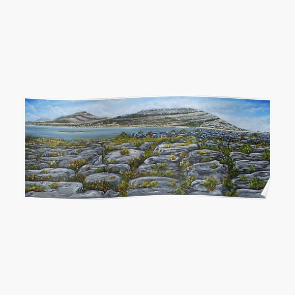Mullaghmor, The Burren, County Clare - oil painting Poster
