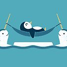 Chilling With Narwhals by Teo Zirinis