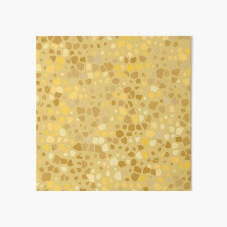 Gold terrazzo seamless pattern Art Board Print