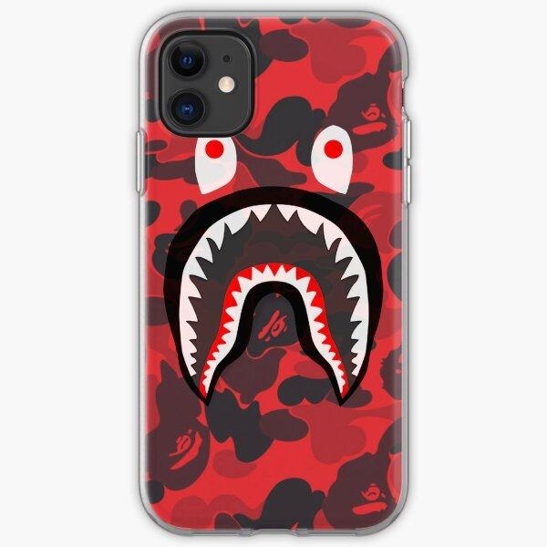 red bape shark iPhone Soft Case