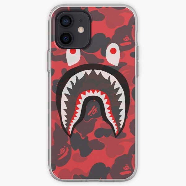 red bape shark iPhone Soft Case