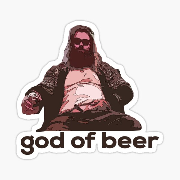 God of beer Sticker