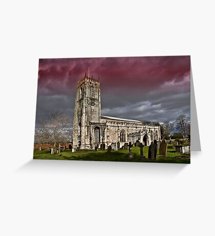 The priory church of St. Mary and St. Martin Greeting Card
