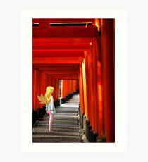 Monogatari – Shinobu Shrine Art Print