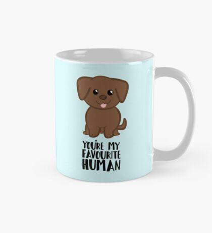 You're my Favourite HUMAN - Chocolate Labrador - Gifts from dog Mug