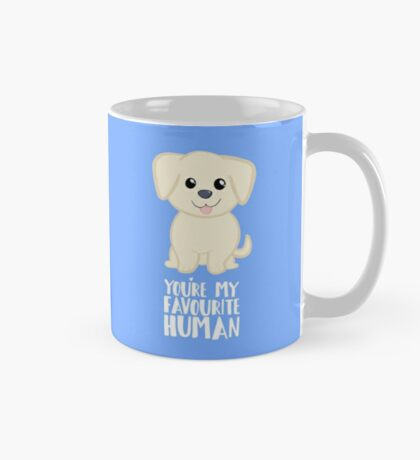 You're my favourite human - Golden Labrador - Gifts from dog Mug
