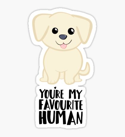 You're my favourite human - Golden Labrador - Gifts from dog Sticker