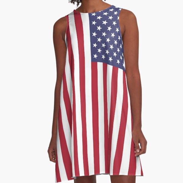 American Flag Dress A-Line Dress