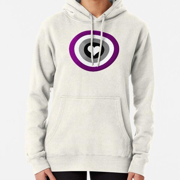 Pride Shield - Asexual Flag Pullover Hoodie