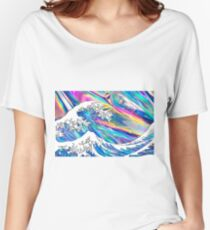 Great Wave Holographic Women's Relaxed Fit T-Shirt