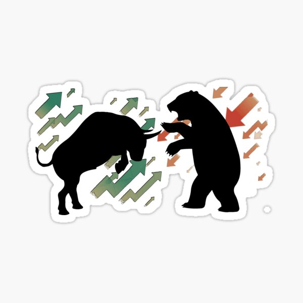 Toro x oso Pegatina