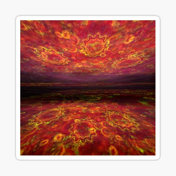 Lake of fire Sticker