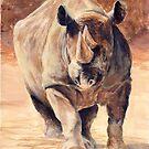 Charging Rhino by Michael Beckett