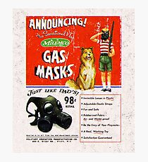 Atomic Ads - MILEMCO Gas Masks Photographic Print
