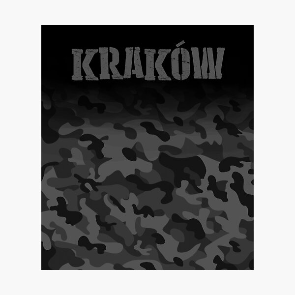 Krakow Army soldier Poland Military Camouflage Polska  Photographic Print