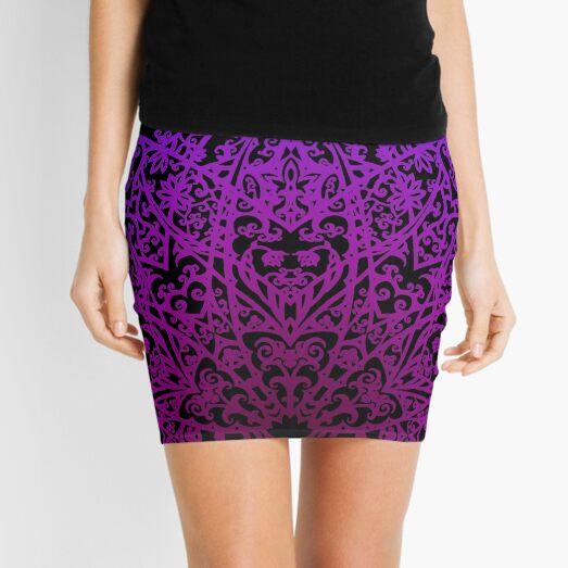 Filigree Mandala *purple & pink* Mini Skirt