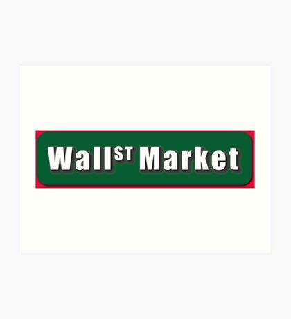 Wall Street Market Art Print