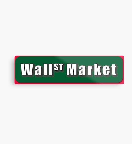 Wall Street Market Metal Print