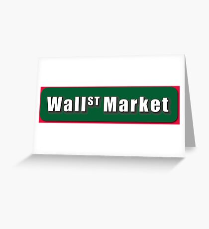 Wall Street Market Greeting Card