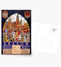 Reise-Plakat Polen Krakaus Weinlese wieder hergestellt Postkarten